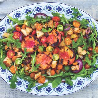 Grilled Peach And Arugula Salad.