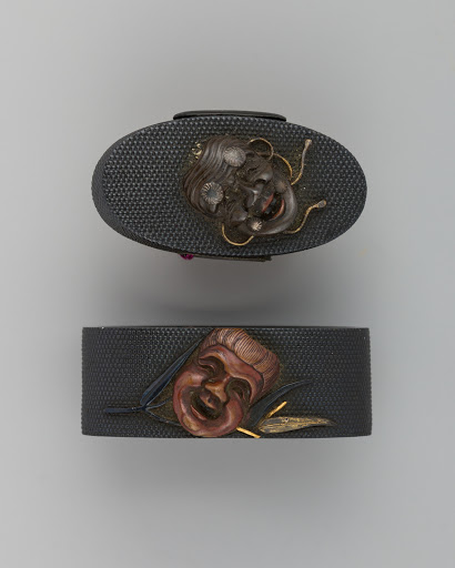 Sword-Hilt Collar and Pommel (Fuchigashira)
