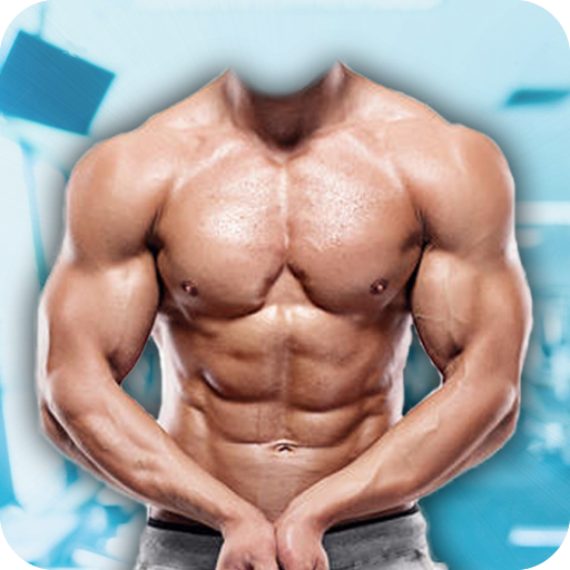 Man Body Builder Photo Suit : Six Pack Photo Suit