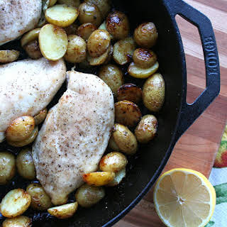 Roasted Lemon Chicken with Small Potatoes.