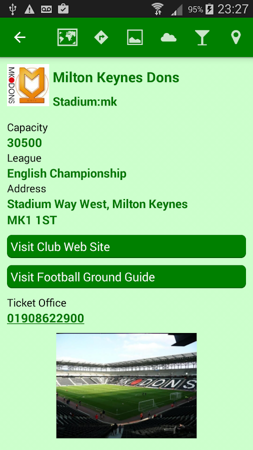 Stadium Finder- screenshot
