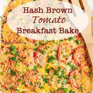 Hash Brown Tomato Breakfast Casserole.