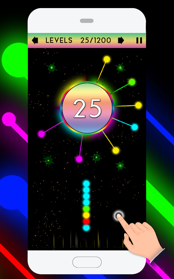 Crazy Pin Ball Circle- screenshot