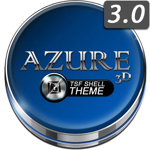 TSF Shell Launcher Theme Azure With Icon Pack Android APK Download Free By Plesk