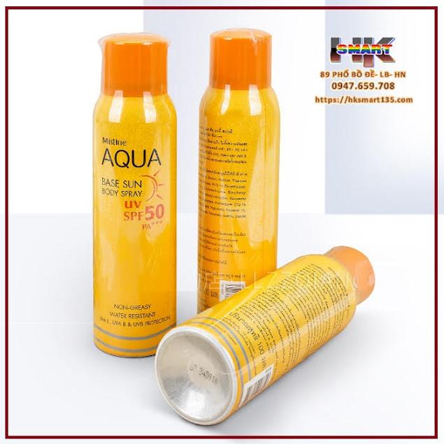 Xịt chống nắng Mistine Aqua Base Sun Body Spray SPF 50/PA