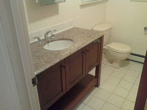 Photo: Good deal on a floor model vanity and sink for a Long Beach NY Home after Sandy