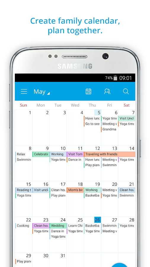 Family Calendar Sharing : Family shared calendar famcal android apps on google play