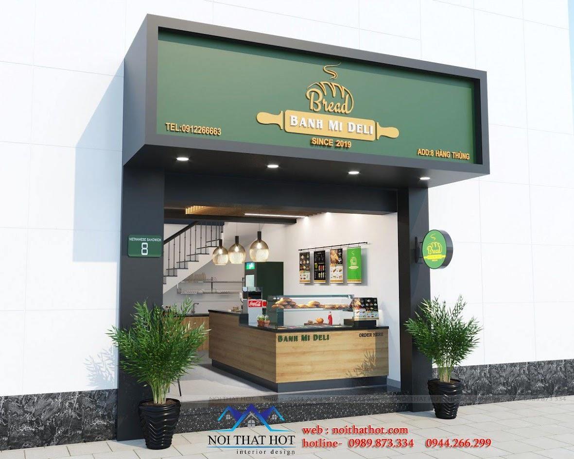 thiết kế cửa hàng bánh mì nhỏ đẹp