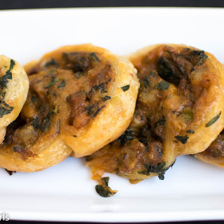 Shrimp Spinach Cheese Swirls