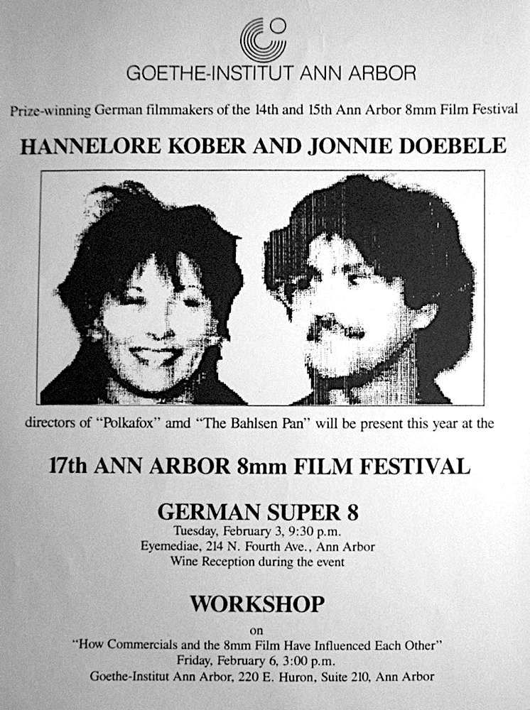 Photo: Goethe-Institut Ann Arbor, Michigan USA 1987 Flyer, 8.5 x 11 inch