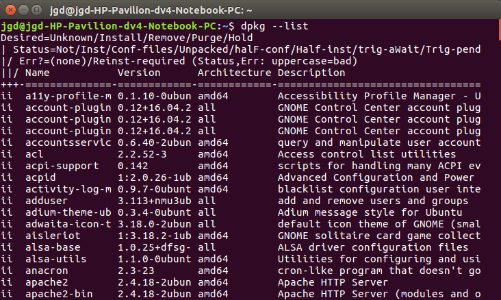 Unistall software in ubuntu linux using cmd