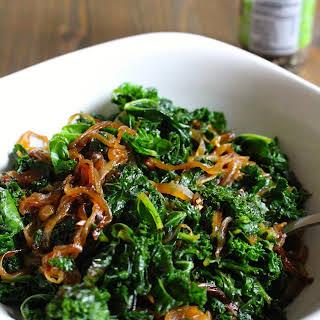 Caramelized Onions & Kale.