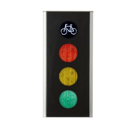 Green Light signal 100 mm 4-lys cyklist