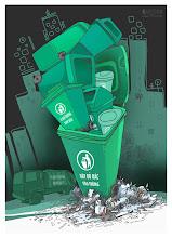 Photo: Xin đừng bỏ thùng vào ... rác !
