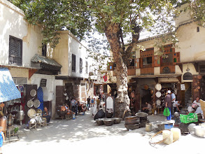 Photo: A small square in the medina.  Each square specializes in a certain product.