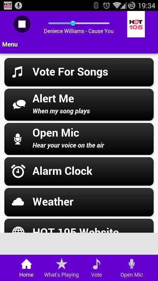 HOT 105 FM Miami - screenshot
