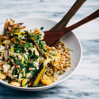 Toasted Farro Salad with Roasted Leeks and Root Vegetables Recipe