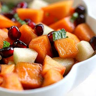 Persimmon Pomegranate Fruit Salad.