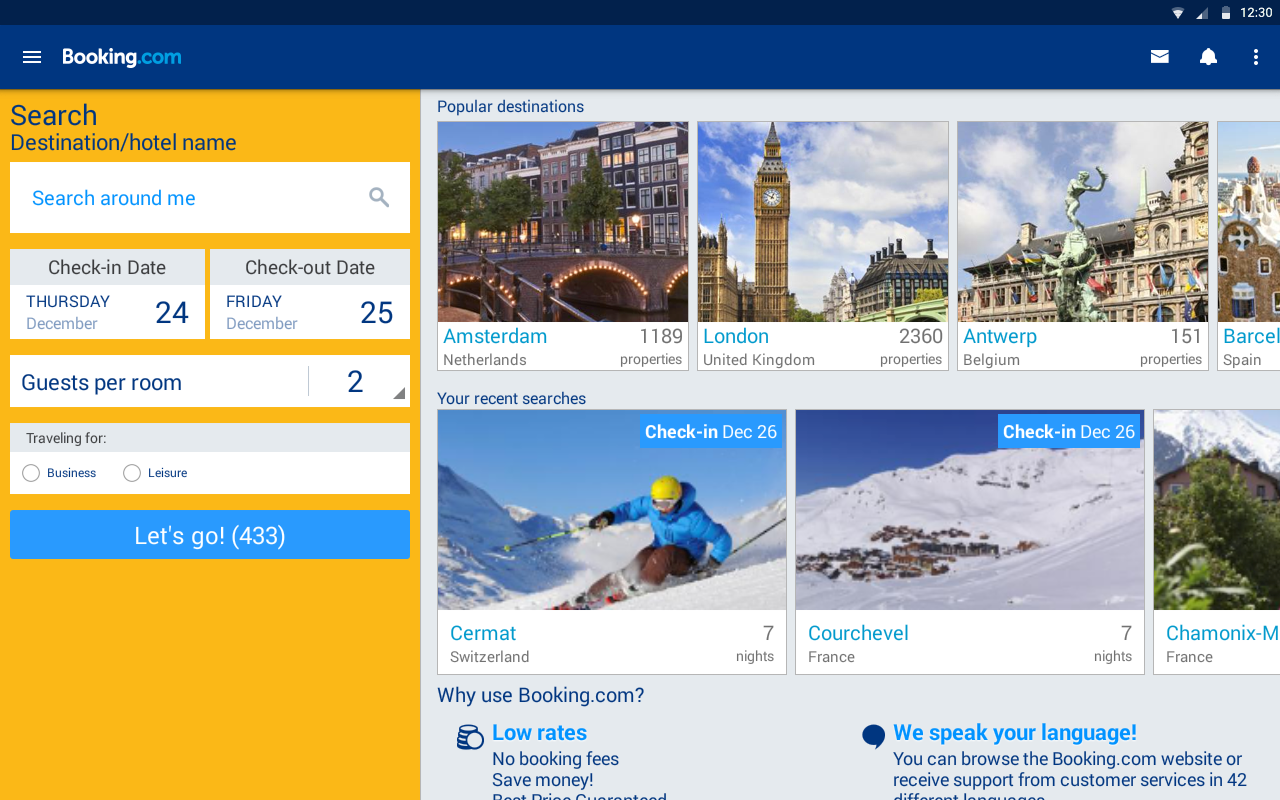 Booking com hotels vacation rentals screenshot