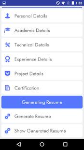 my resume cv builder screenshot thumbnail - Resume Cv Builder