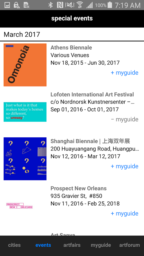 artguide- screenshot
