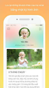 Be Yeu - Parenting application - náhled