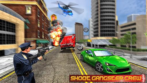 مطاردة سيارة العصابات للشرطة الحقيقية: لقطات شاشة لمحاكاة القيادة 1