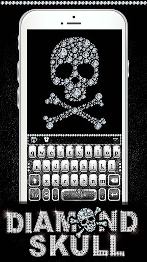 Diamond Skull Keyboard theme screenshot