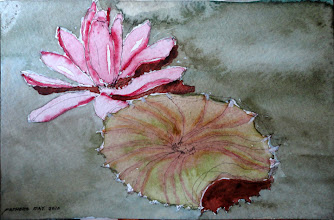 Photo: Remembering at the Chicago Botanical Gardens (collection of K Hamilton) 6.11,2010, 5x7, watercolor on paper