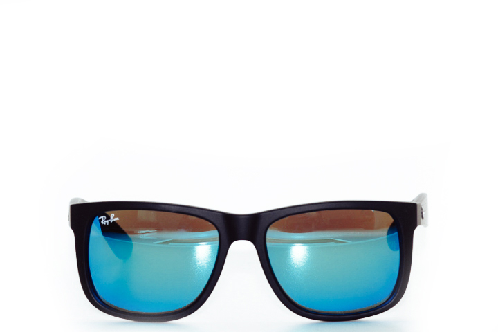 Ray Ban Justin Black Blue Mirror