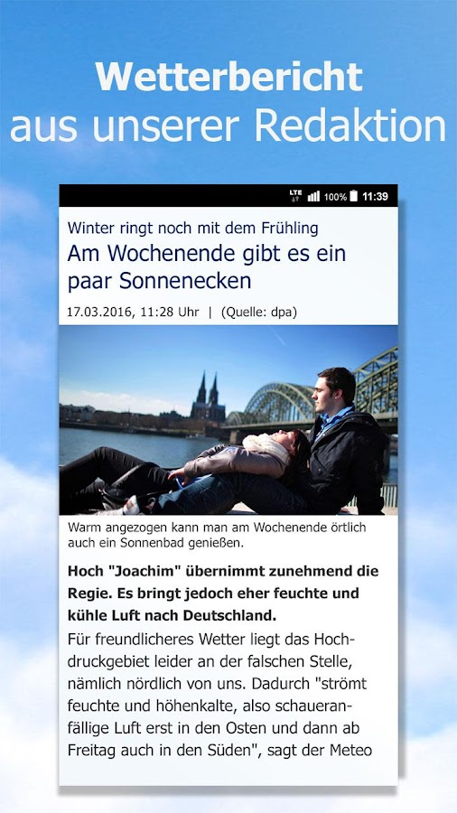 Wetter by t-online.de- screenshot