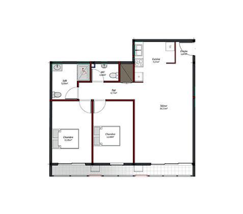 Location appartement 3 pièces 73,7 m2