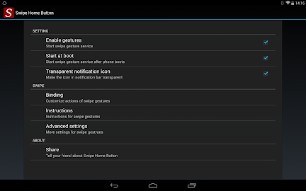 Swipe Home Button Screenshot 1