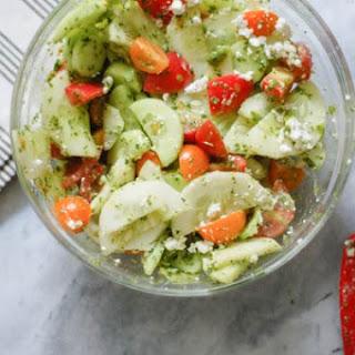 Tomato Cucumber Salad with Basil Vinaigrette