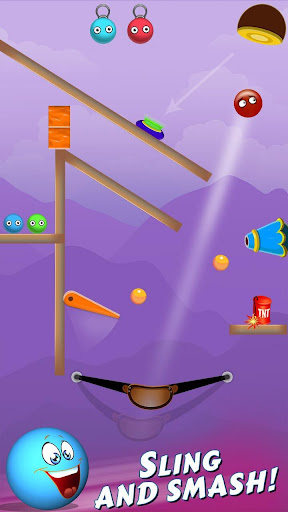 Bounce Ball Shooter - Slingshot The Red Ball 1.0 screenshots 2