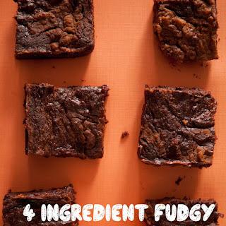 4 Ingredient Fudgy Pumpkin Pie Brownies