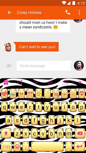 玩免費遊戲APP 下載Zebra Skin Eva Keyboard -Gifs app不用錢 硬是要APP