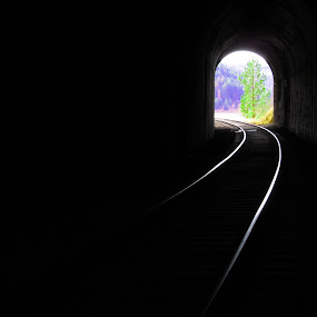 Into The Light by Shawn Vanlith - Landscapes Travel ( tunnels, train, tracks )