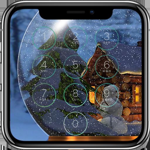 Snow Globe Lock Screen