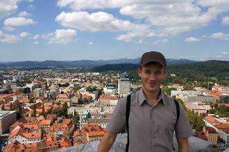 Photo: Meikä ja Ljubljana taustalla.