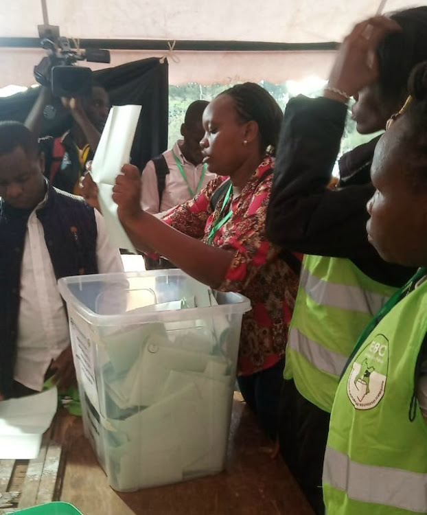 Vote counting underway in Kibra on Thursday, November 7, 2019.