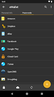 eWallet - Password Manager Screenshot