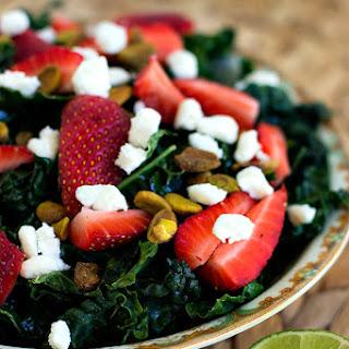 Spring Kale Salad with Honey Lime Dressing