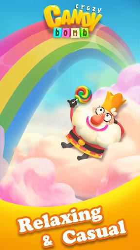 Crazy Candy Bomb - Sweet match 3 game apklade screenshots 1