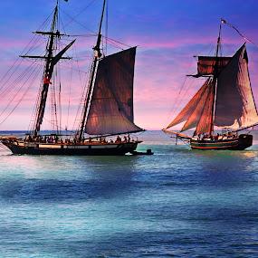tall ships by Jon Radtke - Landscapes Sunsets & Sunrises ( tall ships,  )