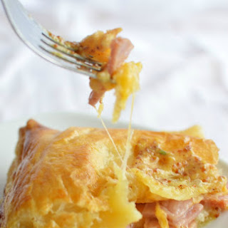 Ham and Cheese Puff Pastry Bake.