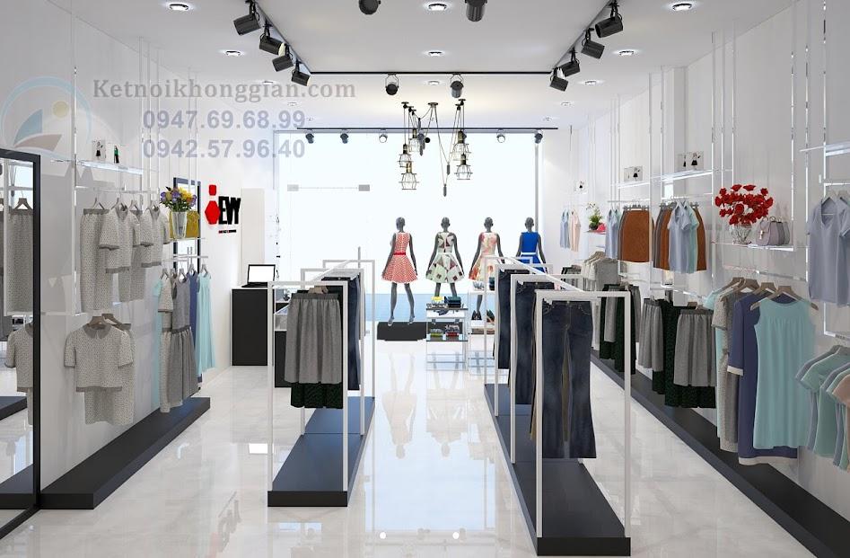 thiết kế shop thời trang công sở độc đáo rộng rãi