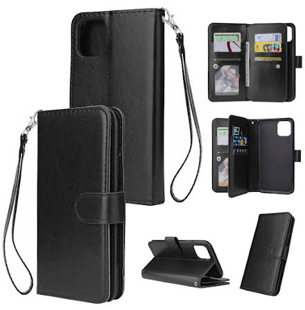 iPhone 11 - Praktiskt 9-Kort Plånboksfodral (LEMAN)