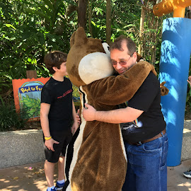 A Hug From Dale (or is that Chip?) by Kristine Nicholas - Novices Only Street & Candid ( love, cosplay, hugs, hug, guy, hugging, chipmunk, costume, men, boy, man, characters, character,  )