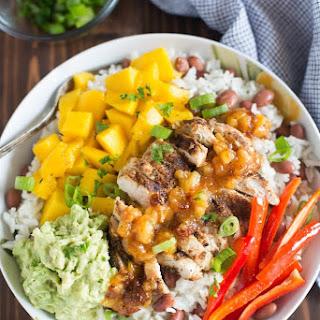 Caribbean Jerk Chicken Bowls.